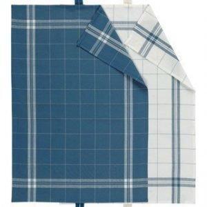 Linum COOK Keittiöpyyhe 2-PACK sininen/valkoinen