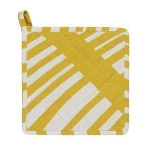 Linum Firenze Pannulappu Mustard Yellow 22x22 Cm