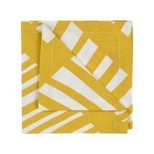 Linum Firenze Servetti Mustard Yellow 45x45 Cm