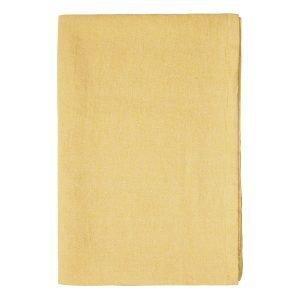 Linum Hedvig Pöytäliina Mustard Yellow 170x170 Cm