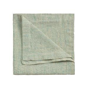 Linum Hedvig Servetti Bright Grey Turquoise 45x45 Cm