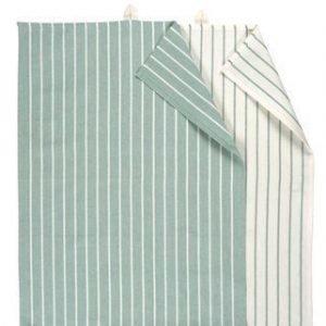 Linum Vega Keittiöpyyhe 50X70 2-PACK harmaa/valkoinen