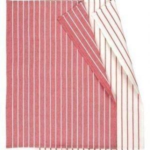 Linum Vega Keittiöpyyhe 50X70 2-PACK punainen/valkoinen
