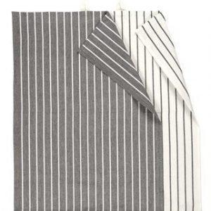 Linum Vega Keittiöpyyhe 50X70 2-PACK tummanharmaa/valkoinen