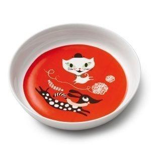 Littlephant Cat Fun Lautanen Punainen 18 Cm