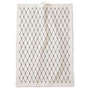 Littlephant Net Keittiöpyyhe Valkoinen / Musta 67x48 Cm