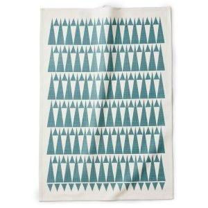 Littlephant Triangle Keittiöpyyhe Valkoinen / Sininen 67x48 Cm