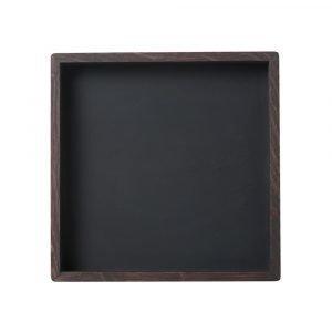Louise Roe Small Square Tarjotin Smoke / Linoleum 28x28 Cm