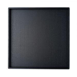 Louise Roe Square Tarjotin Musta 48x48 Cm