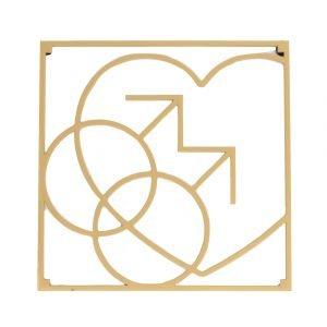 Love Collection Mm Love Pannunalunen Kulta 18x18 Cm