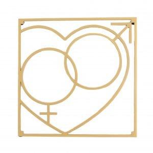 Love Collection Qm Love Pannunalunen Kulta 18x18 Cm