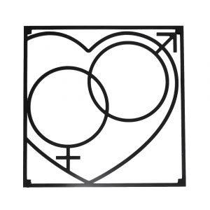 Love Collection Qm Love Pannunalunen Musta 18x18 Cm