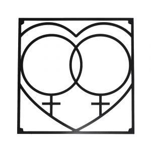 Love Collection Qq Love Pannunalunen Musta 18x18 Cm