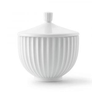 Lyngby Porcelæn Bonbonniere Valkoinen Ø10 Cm