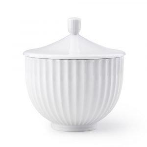 Lyngby Porcelæn Bonbonniere Valkoinen Ø14 Cm