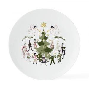 Lyngby Porcelæn Children Of The World Lautanen Christmas Ø23 Cm