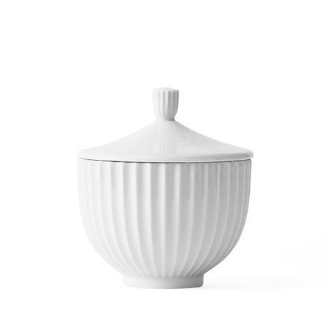 Lyngby Porcelæn Kannellinen Rasia Valkoinen 12 cm