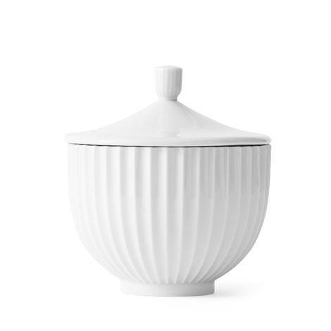 Lyngby Porcelæn Kannellinen Rasia Valkoinen 16 cm