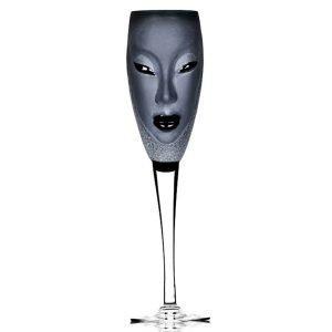 Målerås Glasbruk Electra Samppanjalasi Musta