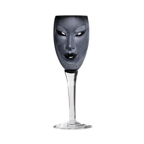 Målerås Glasbruk Electra Viinilasi Musta