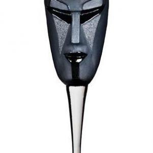 Målerås Glasbruk Kubik Viinilasi Musta