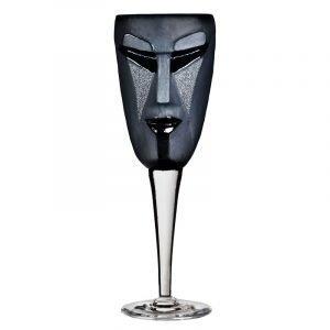 Målerås Glasbruk Masq Viinilasi Kubik Musta