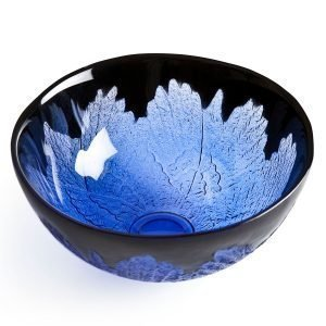Målerås Glasbruk Paradiso Wings Kulho Musta / Violetti 17 Cm