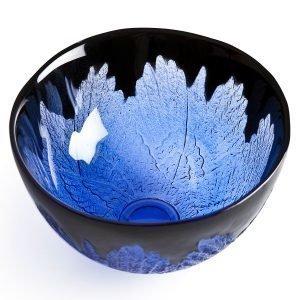 Målerås Glasbruk Paradiso Wings Kulho Musta / Violetti 24 Cm