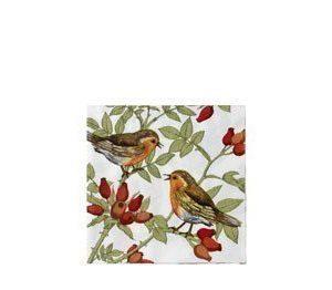 Manuell mappning Paperiservetti Linnut 20kpl 33cm x 33cm