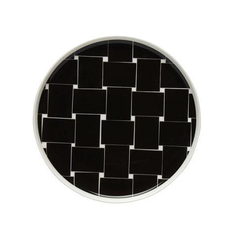 Marimekko Basket Lautanen Ø 20 cm Musta-Valkoinen