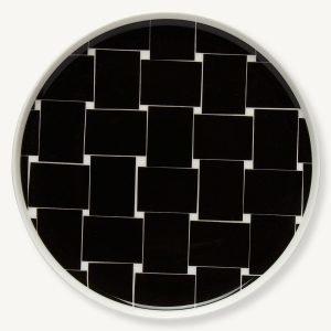 Marimekko Basket Lautanen Musta / Valkoinen 20 Cm