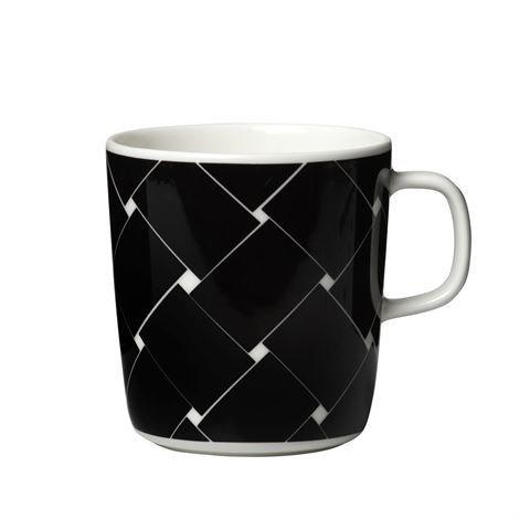 Marimekko Basket Muki 4 Dl Musta-Valkoinen