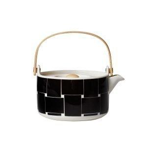 Marimekko Basket Teekannu Musta / Valkoinen