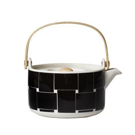 Marimekko Basket Teekannu Musta-Valkoinen