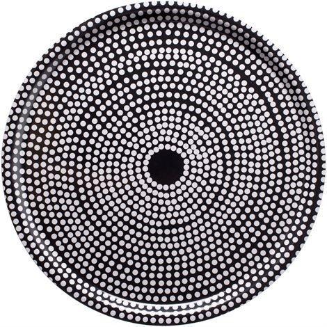 Marimekko Fokus Tarjotin Pyöreä Musta