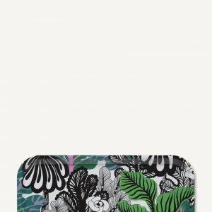 Marimekko Kaalimetsä Tarjotin Valkoinen Vihreä Violetti 43x22 Cm