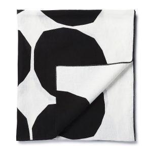 Marimekko Kivet Pöytäliina Valkoinen / Musta 150x220 Cm