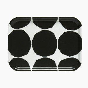 Marimekko Kivet Tarjotin Valkoinen / Musta 27x20 Cm