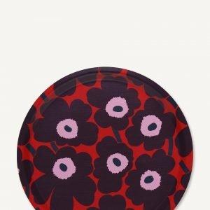 Marimekko Mini Unikko Tarjotin Punainen Violetti Vaaleanpunainen 31 Cm