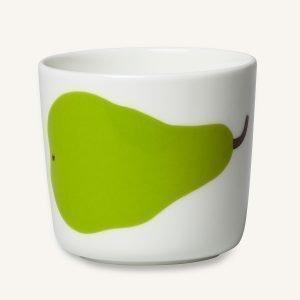 Marimekko Oiva / Päärynä Kahvikuppi Valkoinen 2-Pakkaus