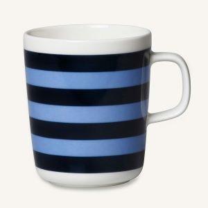 Marimekko Oiva / Tasaraita Muki Sininen 25 Cl