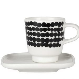 Marimekko Räsymatto Espressokuppi Musta-Valkoinen