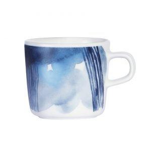 Marimekko Sääpäiväkirja Kahvikuppi Valkoinen Sininen 2 Dl