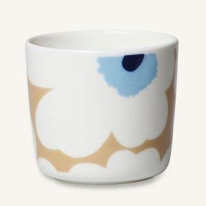Marimekko Unikko Kahvikuppi Beige / Sininen 20 Cl 2-Pakkaus