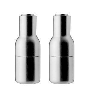 Menu Bottle Suola- Ja Pippurimylly Harjattu Teräs 2 Kpl
