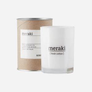 Meraki Tuoksukynttilä Fresh Cotton 10.5 Cm
