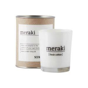 Meraki Tuoksukynttilä Fresh Cotton 6.7 Cm