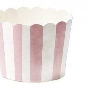 Miss Etoile Muffinsivuoka keskikokoinen pinkkiraidallienn 24 kpl