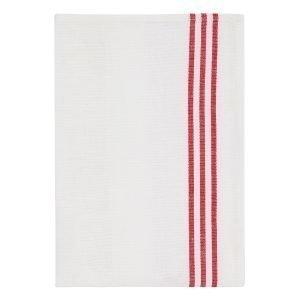 Morberg Keittiöpyyhe Punainen / Valkoinen 50x70 Cm 2-Pakkaus