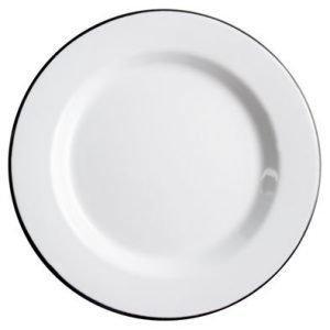 Muurla Basic Posliinilautanen Valkoinen 24 Cm